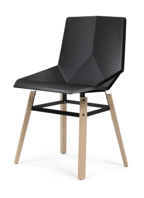 Green Eco Wooden Dining Chair Signal Black Seat