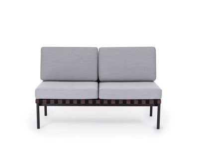 Grid Square Back 2 Seater Sofa Steelcut Trio 2 144