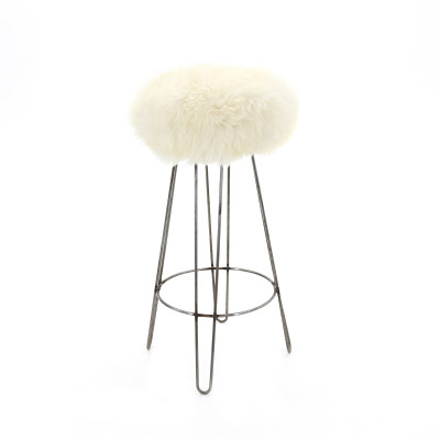 Griff Baa Bar Stool  Ivory