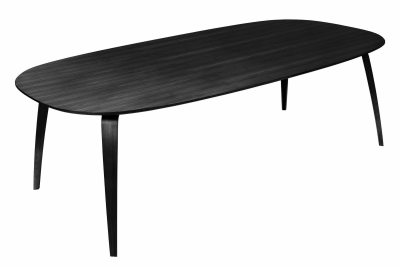 Gubi Elliptical Dining Table Black Stained Ash