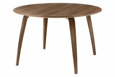 Gubi Round Dining Table Walnut
