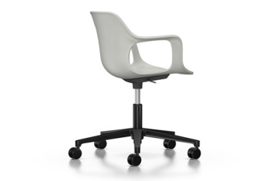 HAL Armchair Studio, Without Seat Upholstery 31 warm grey, 03 castors soft - braked for hard floor