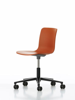 HAL Studio 65 orange, 03 castors soft - braked for hard floor