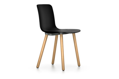 HAL Wood Chair 04 glides for carpet, 01 basic dark, Natural oak with protective varnish