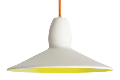 Half Spun Pendant Light Yellow