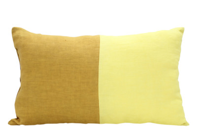 Half Vibrant Cushion Mustard, Yellow