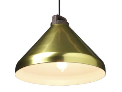 Handle Wide Pendant Light Brass