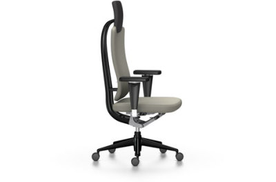Headline Office Swivel Chair Light grey, 02 castors hard - braked for carpet, Adjustable Standard - 400 N, without armrests, plastic basic dark