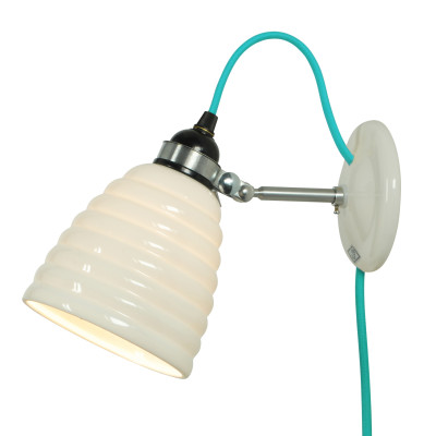 Hector Bibendum Wall Light Turquoise Cable, Plug and Switch