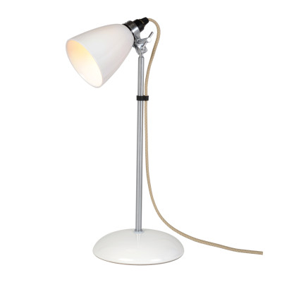 Hector Dome Table Lamp Natural White, Small