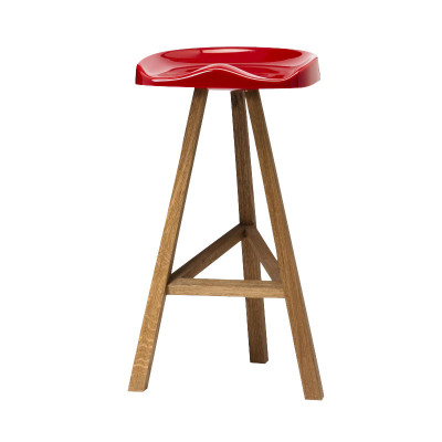Heidi Bar Stool Black, 65 x 42.5 cm