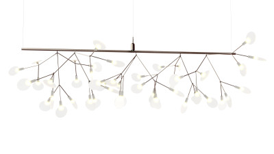 Heracleum Endless Pendant Light Moooi Heracleum Nickel, 1000cm, 90 bend