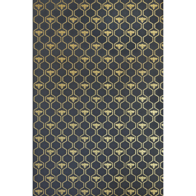 Honey Bees Wallpaper  Gold on Charcoal