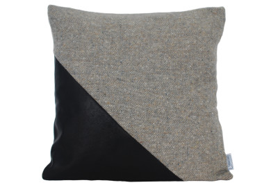 Ilua Cushion  Charcoal Triangle