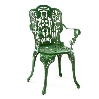 Industry Aluminium Armchair Green