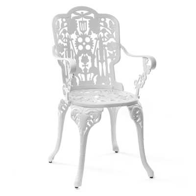 Industry Aluminium Armchair White