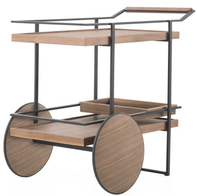 James Bar Cart Stainless Steel