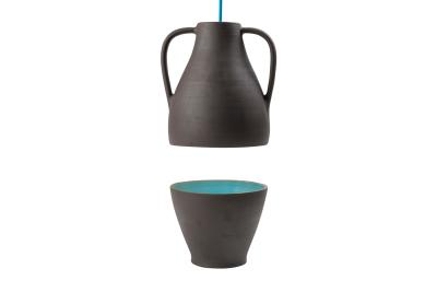 Jar Blue Glaze, High