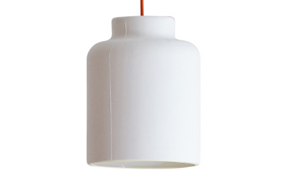 Jar Spun Pendant Light White