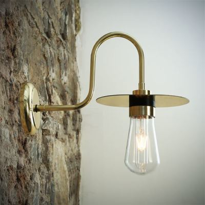 Kai Swan Neck Wall Light Polished Brass