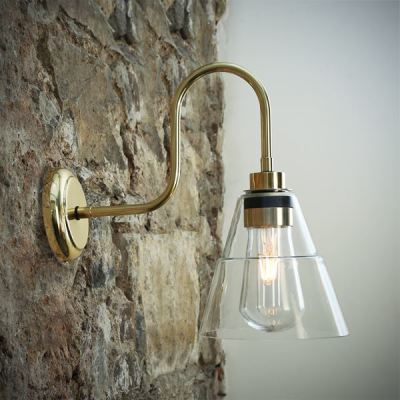 Kairi Swan Neck Wall Light Polished Brass