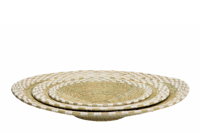 Kikapu Platters Natural & White