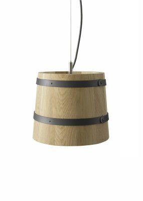 KIKKE & HEBBE Timber Pendant Lamp Wood  Mist Grey