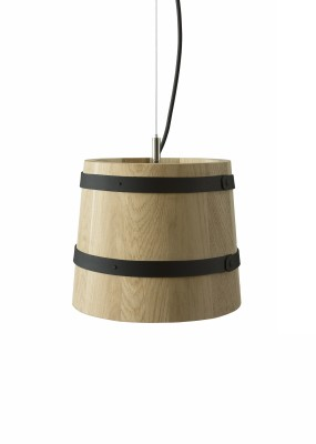 KIKKE & HEBBE Timber Pendant Lamp Wood  Ink Black