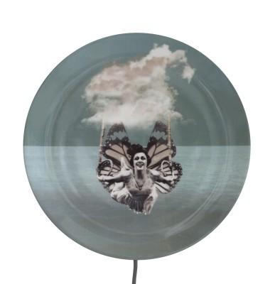 KIKKE & HEBBE wall lamp porcelain  BUTTERFLY
