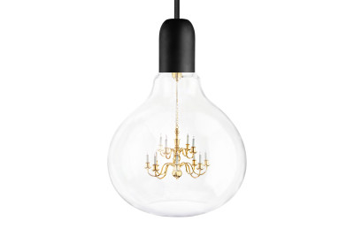 King Edison Pendant Light Black