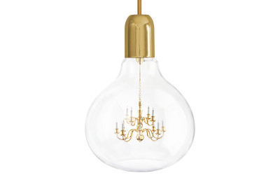 King Edison Pendant Light Gold