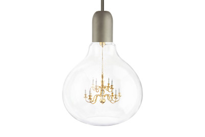 King Edison Pendant Light Grey