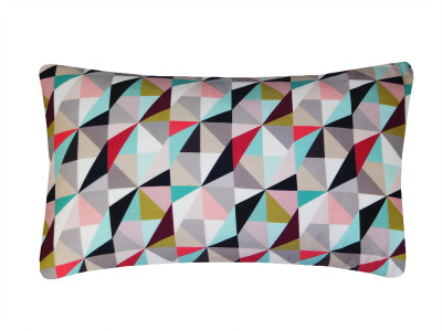 Kite Printed Rectangular Cushion  Berry and Lime