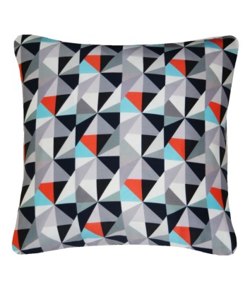 Kite Printed Square Cushion  Grey and Red