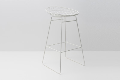 KM07 Bar Stool Paper White