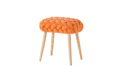 Knitted Stool Orange