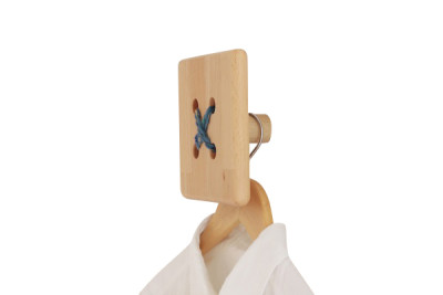 Knopf Knopf Square Hook Natural and White