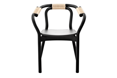 Knot Chair Black, Nature
