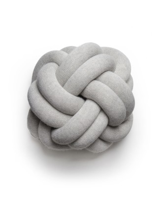 Knot Cushion - set of 2 White grey