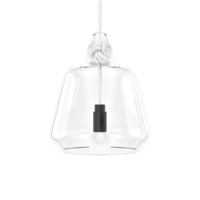 Knot Wide Pendant Light White