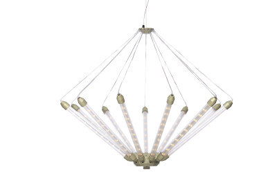 Kroon 11 Pendant Light Matt Champagne Frosted