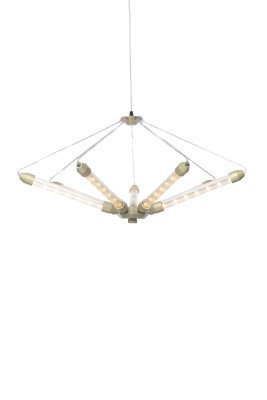 Kroon 7 Pendant Light Matt Champagne Frosted