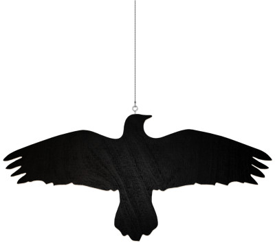 Krummi Bird Hanger Black