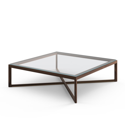 Krusin Coffee Table Natural Oak / Clear Glass