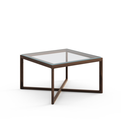 Krusin End Table Natural Oak / Clear Glass