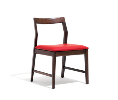Krusin Side Chair with arms 51.5cm W x 56cm D x 79cm H, Ebonised Oak