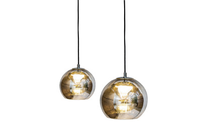 Kubric Single Pendant Lamp Satin Bronze, with connection for false ceilings