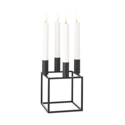 Kubus 4 Candleholder - Set of 2 Black