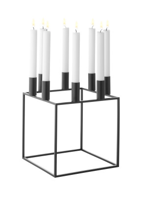 Kubus 8 Candleholder - Set of 2 Black