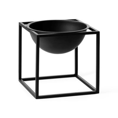 Kubus Bowl - Set of 2 14 x 14 cm, Black
